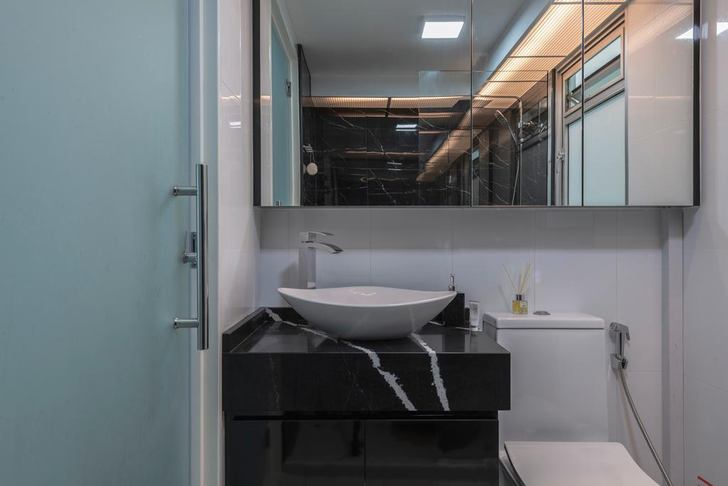 Contemporary, HDB, Bathroom, Sembawang Crescent, Interior Designer, DreamCreations Interior