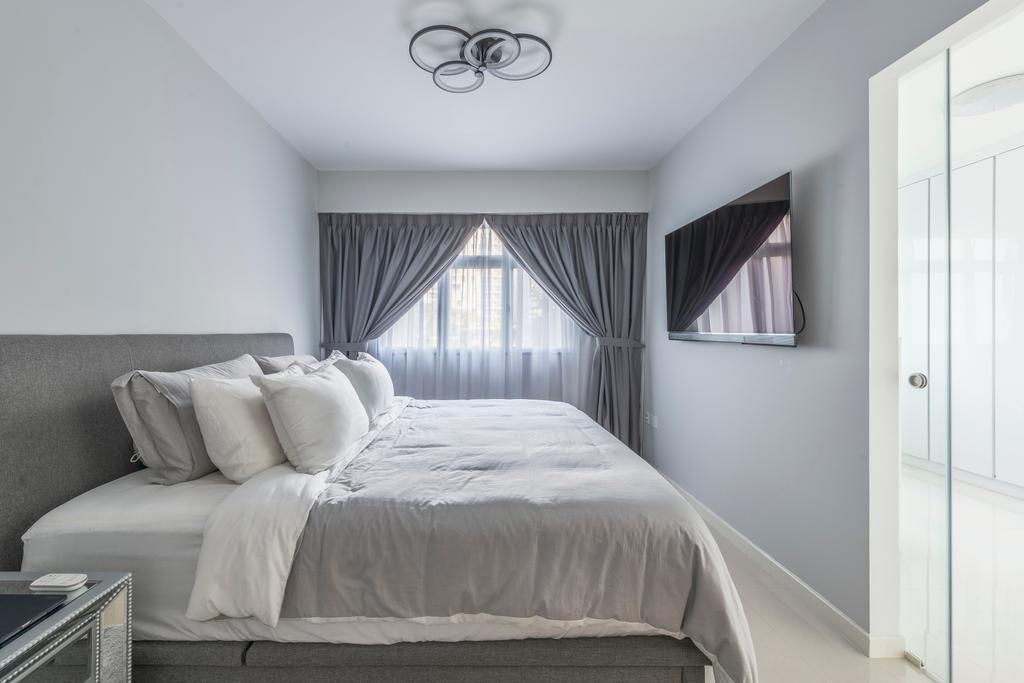 Contemporary, HDB, Bedroom, Sembawang Crescent, Interior Designer, DreamCreations Interior