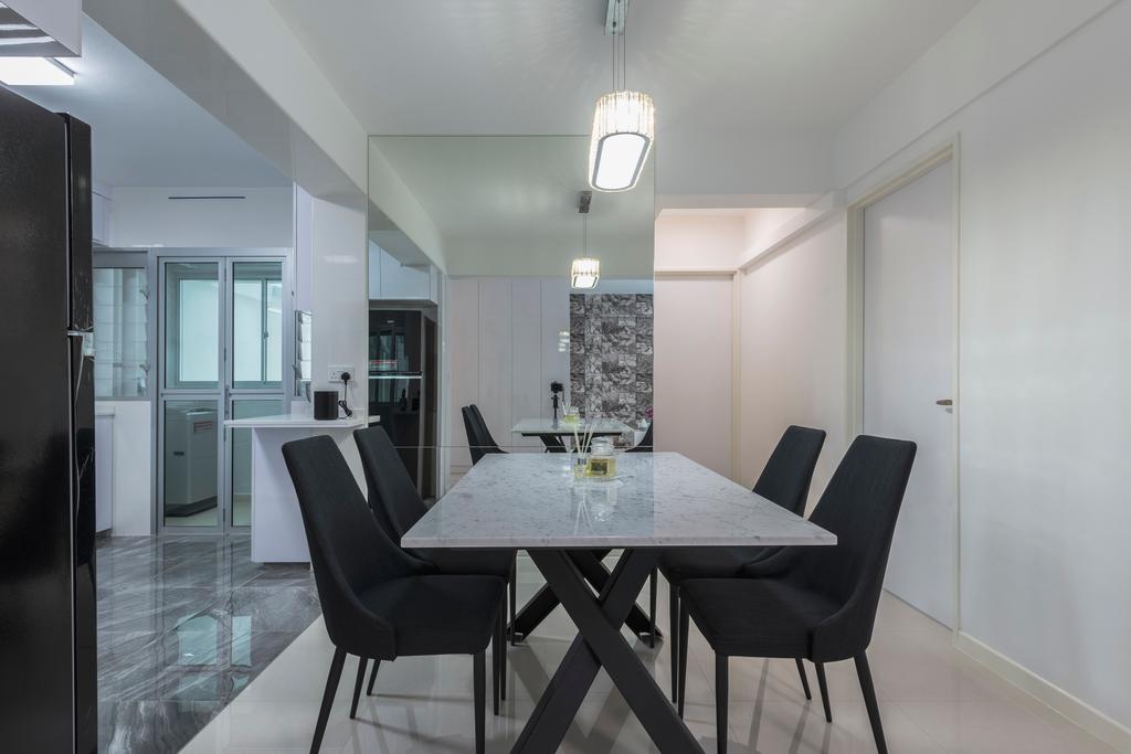 Contemporary, HDB, Dining Room, Sembawang Crescent, Interior Designer, DreamCreations Interior