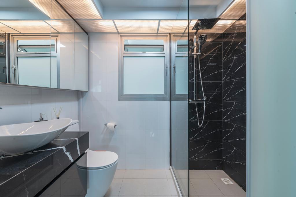 Contemporary, HDB, Bathroom, Sembawang Crescent, Interior Designer, DreamCreations Interior