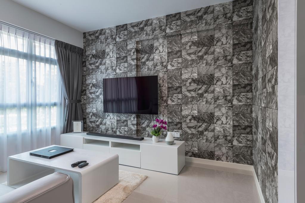 Contemporary, HDB, Living Room, Sembawang Crescent, Interior Designer, DreamCreations Interior