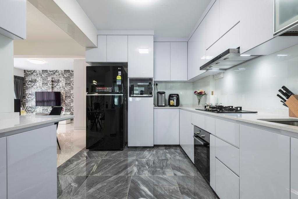 Contemporary, HDB, Kitchen, Sembawang Crescent, Interior Designer, DreamCreations Interior