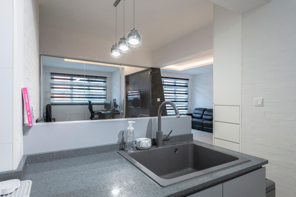 Contemporary, HDB, Kitchen, Bukit Batok West Avenue 8, Interior Designer, Ascenders Design Studio