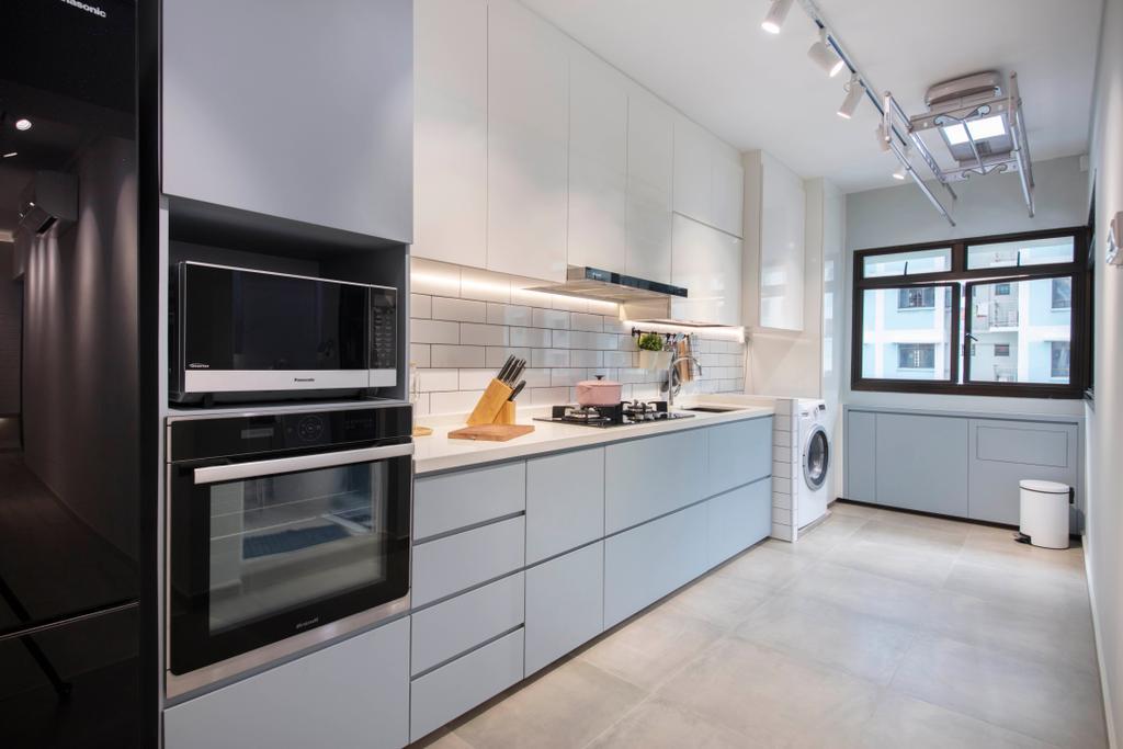 Scandinavian, HDB, Kitchen, Jurong West Street 64, Interior Designer, Starry Homestead