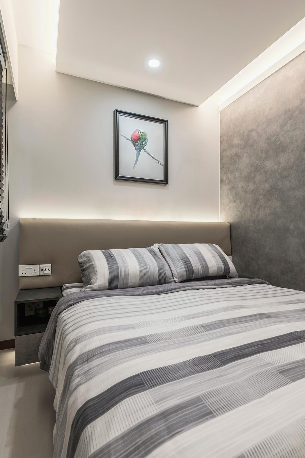 Modern, HDB, Bedroom, Buangkok Crescent, Interior Designer, DS 2000 Interior & Design, Industrial