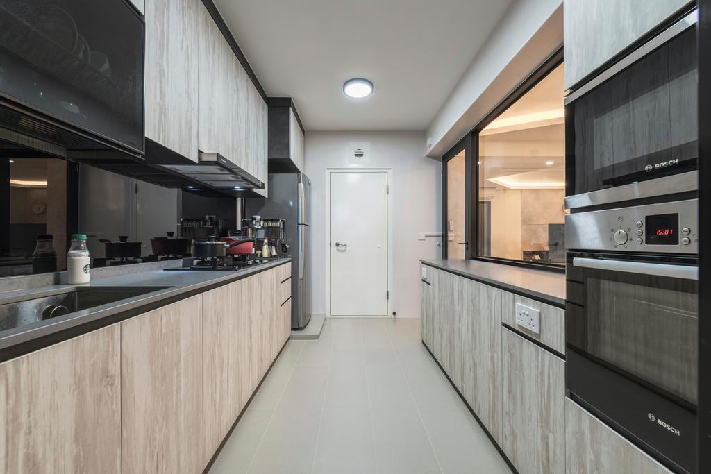 Modern, HDB, Kitchen, Buangkok Crescent, Interior Designer, DS 2000 Interior & Design, Industrial
