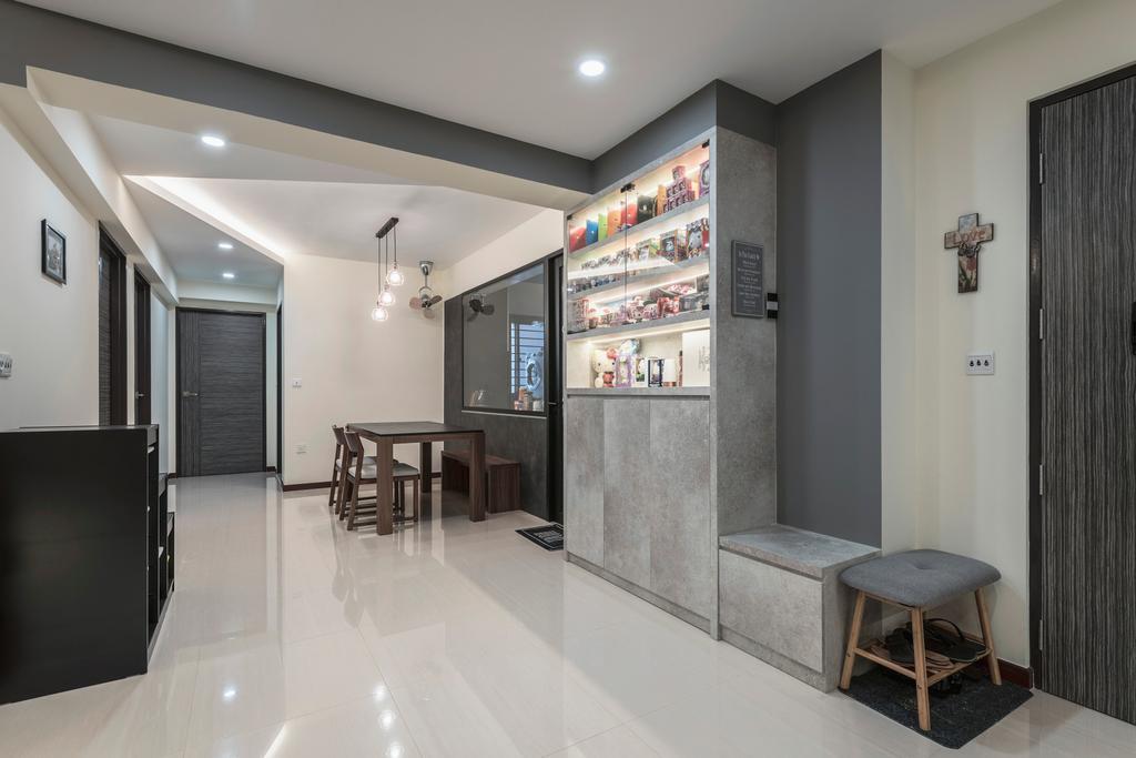 Modern, HDB, Living Room, Buangkok Crescent, Interior Designer, DS 2000 Interior & Design, Industrial