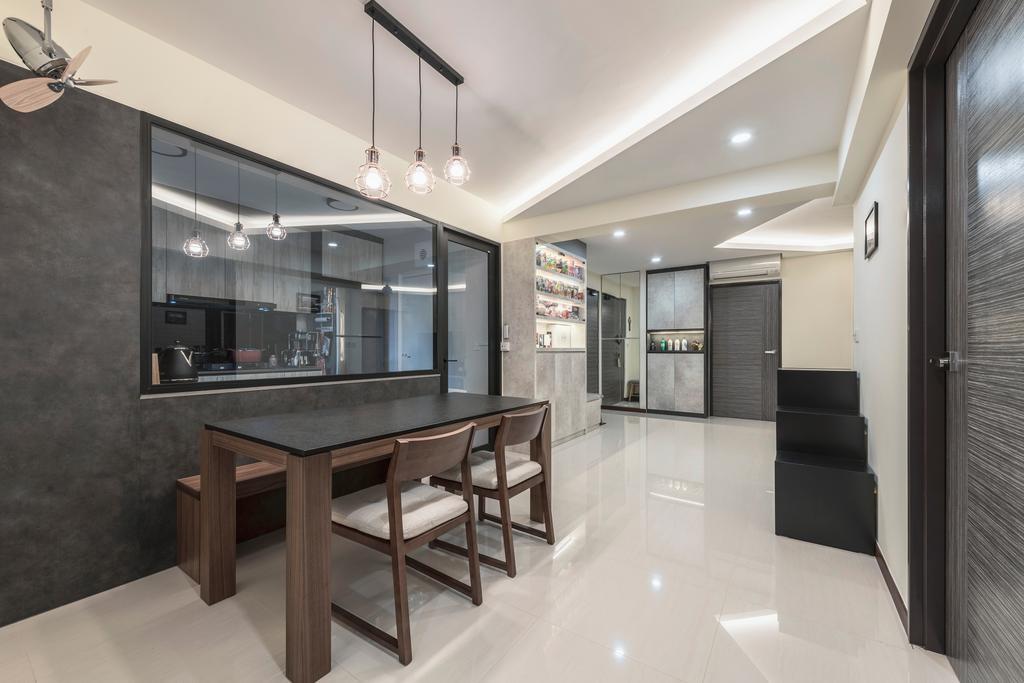Modern, HDB, Dining Room, Buangkok Crescent, Interior Designer, DS 2000 Interior & Design, Industrial