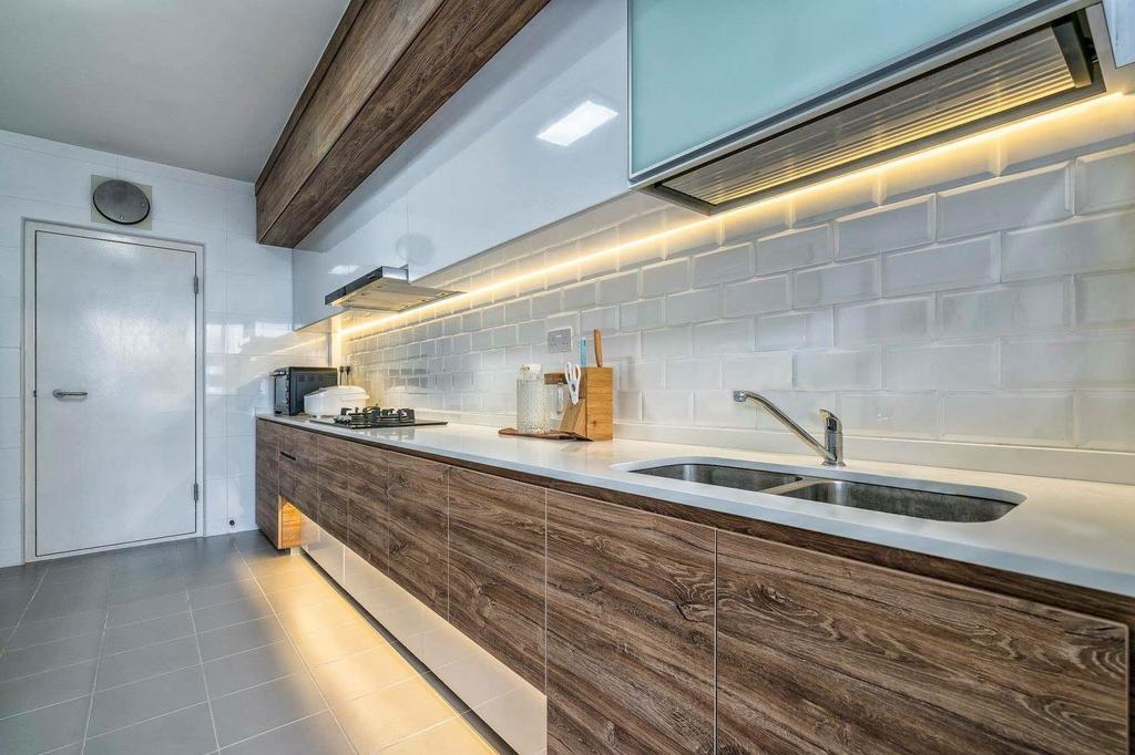 Contemporary, HDB, Kitchen, Choa Chu Kang Avenue 1, Interior Designer, MET Interior, Industrial