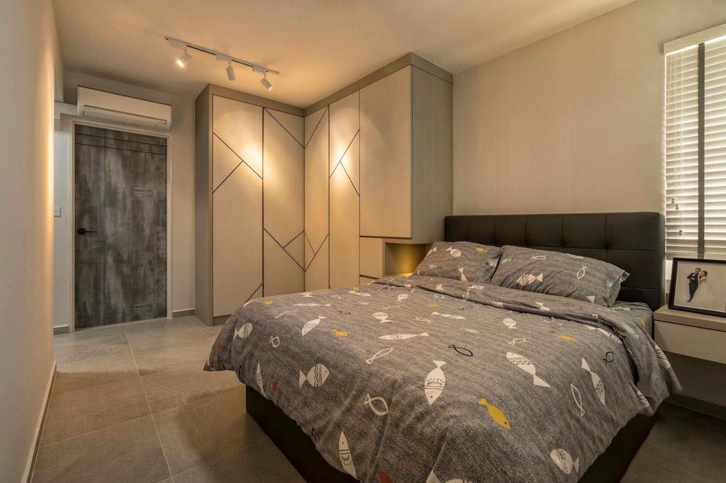 Contemporary, HDB, Bedroom, Fernvale Link, Interior Designer, MET Interior