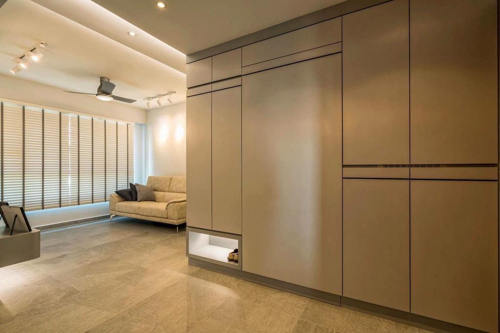 Contemporary, HDB, Living Room, Fernvale Link, Interior Designer, MET Interior