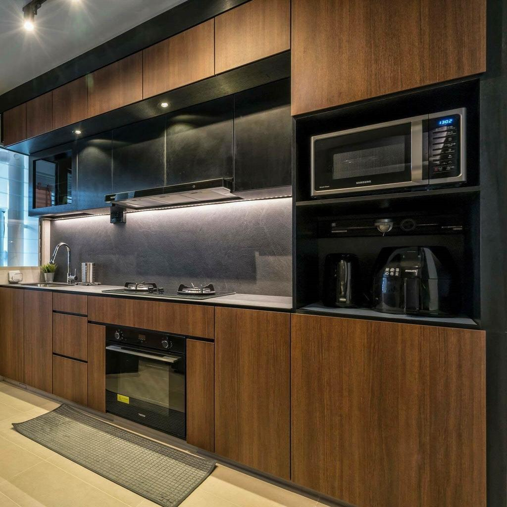 Contemporary, HDB, Kitchen, Tampines Street 45, Interior Designer, MET Interior