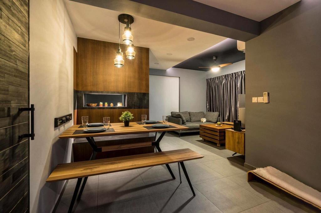 Contemporary, HDB, Living Room, Tampines Street 45, Interior Designer, MET Interior