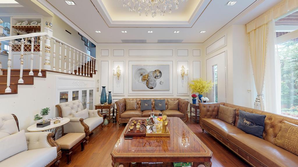 古典, 獨立屋, 客廳, 加州豪園, 室內設計師, 和生設計