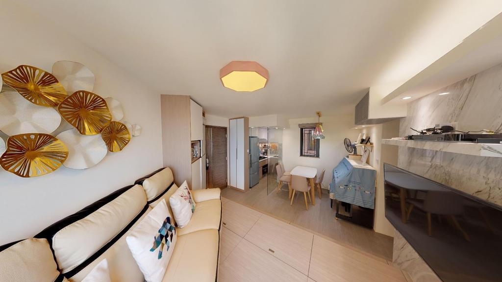 私家樓, 客廳, 星河明居, 室內設計師, 和生設計