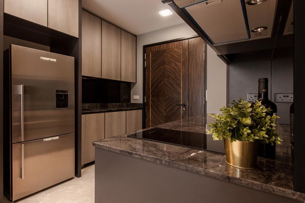 Contemporary, Condo, Kitchen, The Asana, Interior Designer, Space Atelier