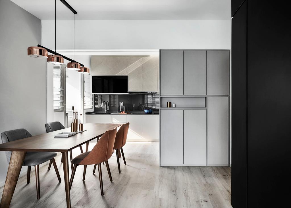 Modern, HDB, Dining Room, Tampines, Interior Designer, IN-EXPAT