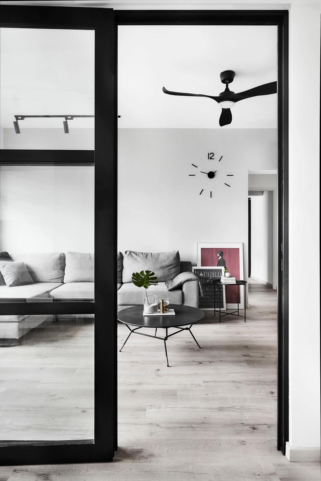 Modern, HDB, Living Room, Tampines, Interior Designer, IN-EXPAT