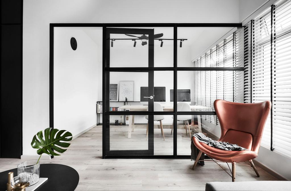 Modern, HDB, Study, Tampines, Interior Designer, IN-EXPAT
