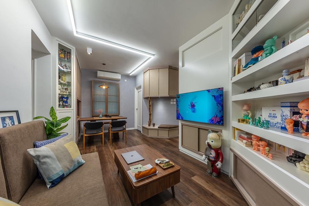 私家樓, 客廳, 灝景灣, 室內設計師, am PLUS