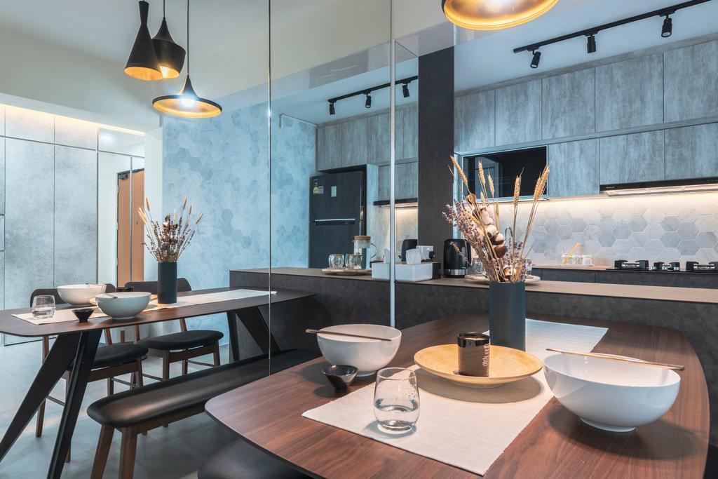 Contemporary, HDB, Dining Room, Sembawang Crescent, Interior Designer, Project Guru