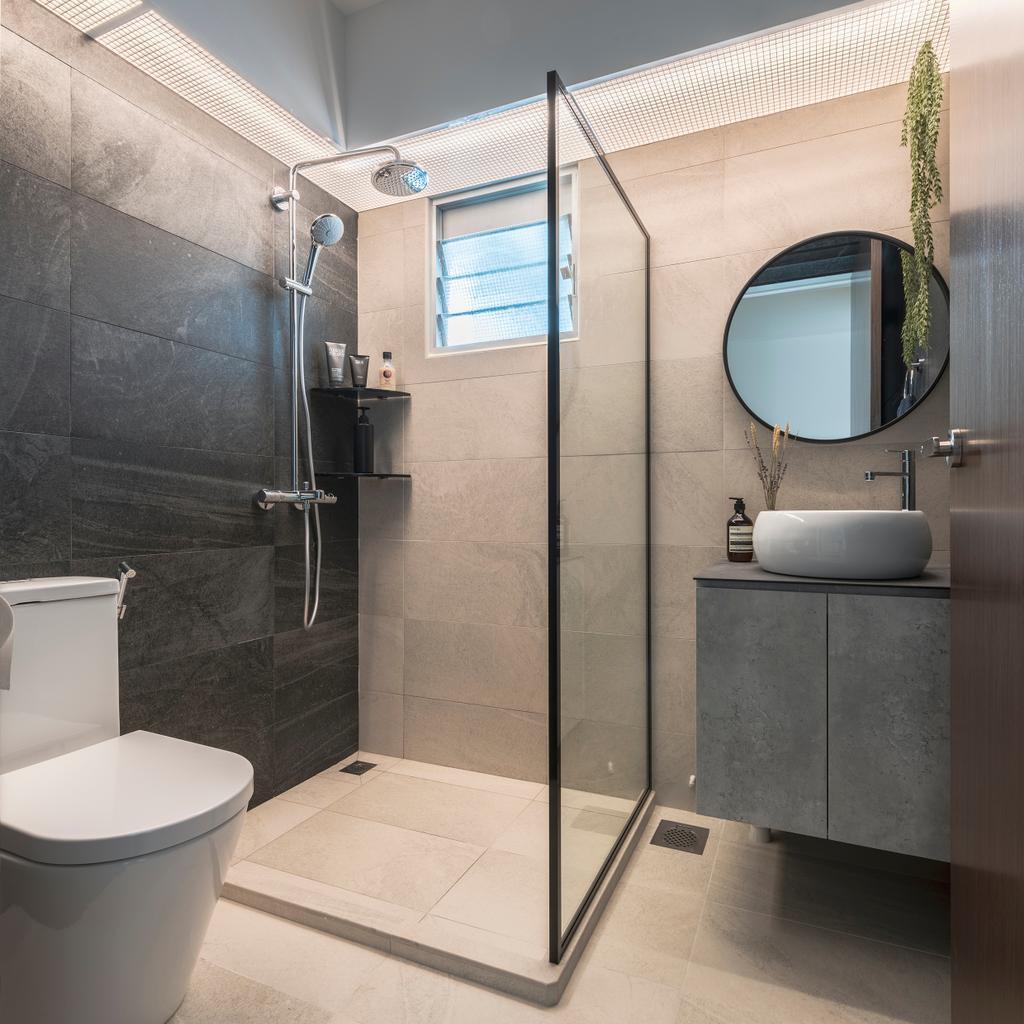 Contemporary, HDB, Bathroom, Sembawang Crescent, Interior Designer, Project Guru