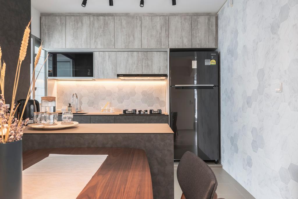 Contemporary, HDB, Kitchen, Sembawang Crescent, Interior Designer, Project Guru