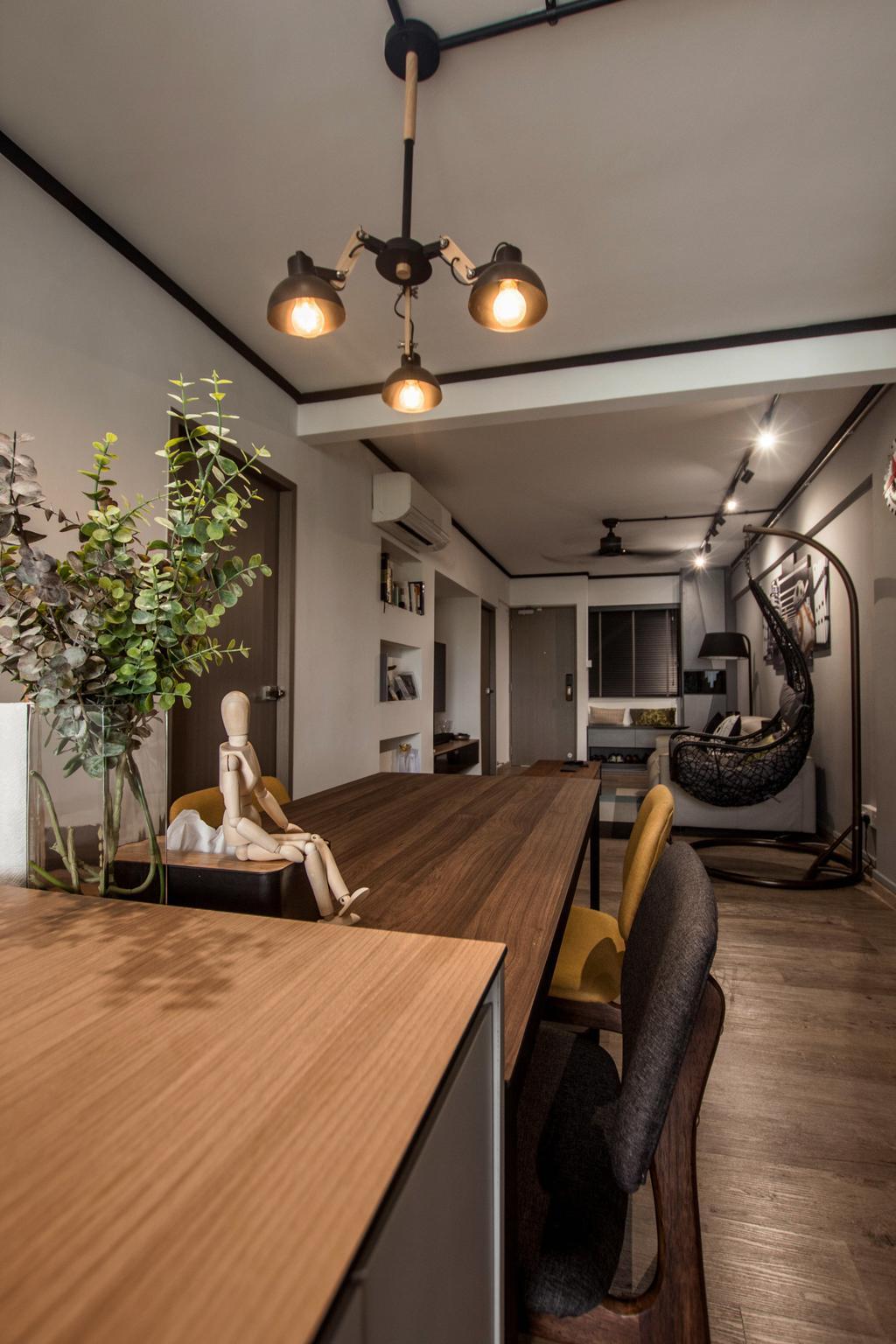 Modern, HDB, Dining Room, Dorset Road, Interior Designer, Space Atelier, Industrial
