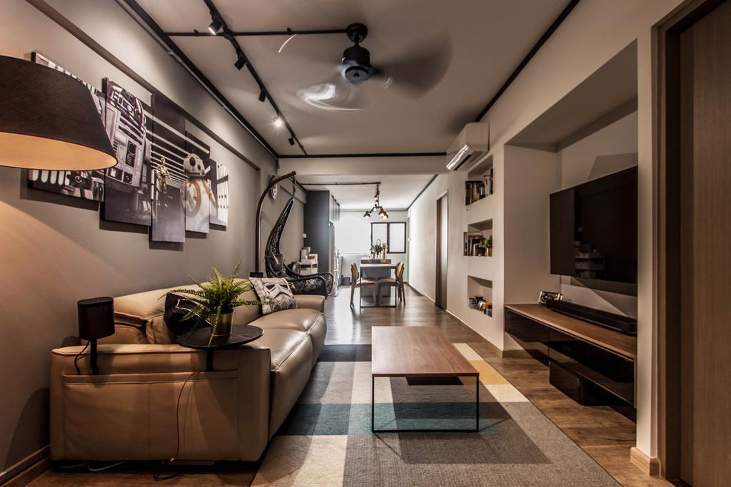 Modern, HDB, Dorset Road, Interior Designer, Space Atelier, Industrial