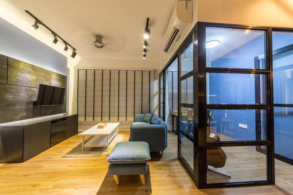 Contemporary, HDB, Living Room, Yishun Avenue 4, Interior Designer, MET Interior