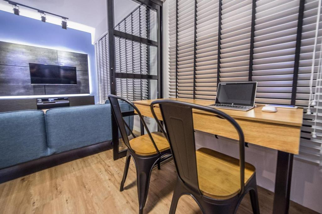 Contemporary, HDB, Study, Yishun Avenue 4, Interior Designer, MET Interior