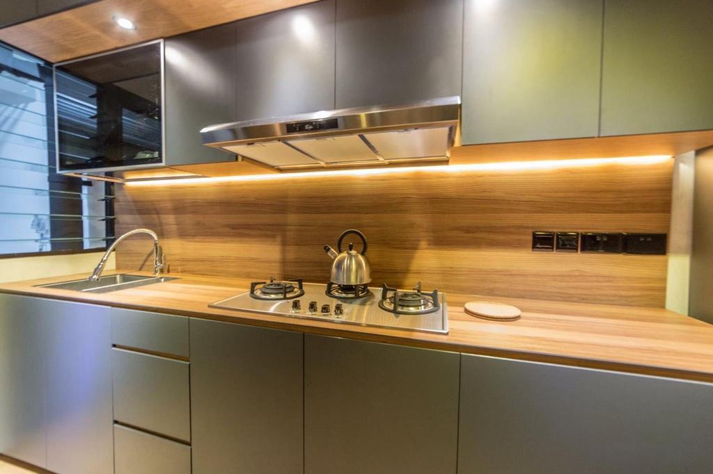 Contemporary, HDB, Kitchen, Yishun Avenue 4, Interior Designer, MET Interior