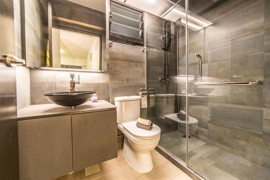 Contemporary, HDB, Bathroom, Yishun Avenue 4, Interior Designer, MET Interior