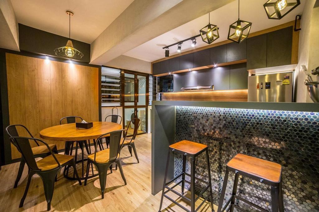 Contemporary, HDB, Dining Room, Yishun Avenue 4, Interior Designer, MET Interior