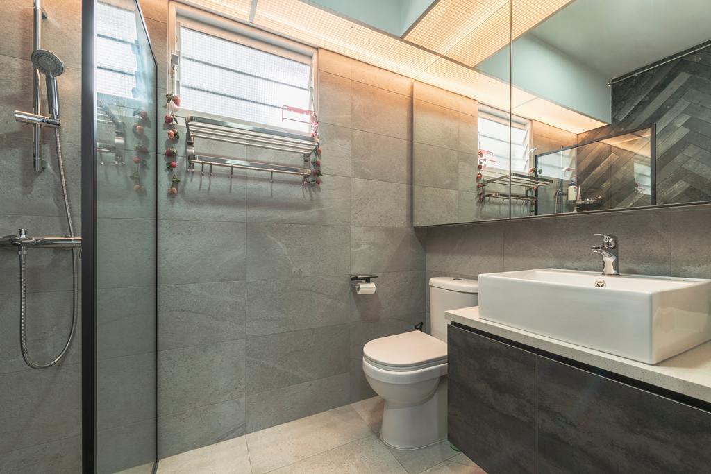 Contemporary, HDB, Bathroom, Compassvale Crescent, Interior Designer, Butler Interior
