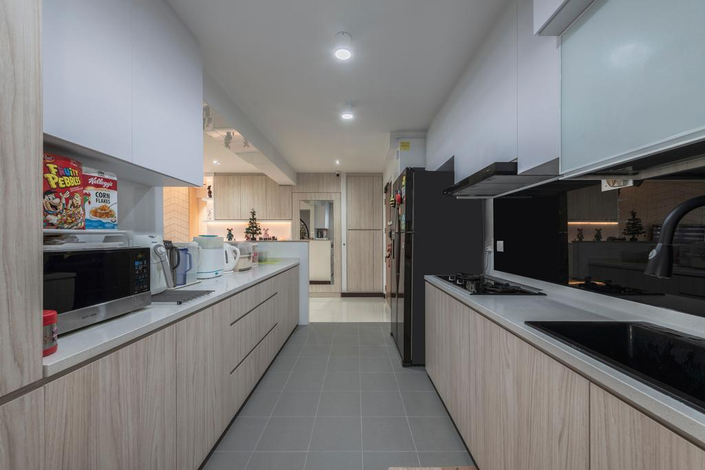Contemporary, HDB, Kitchen, Compassvale Crescent, Interior Designer, Butler Interior