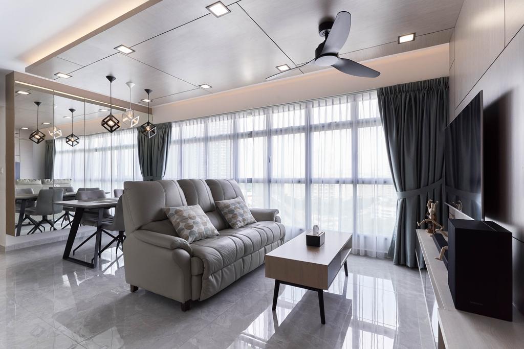 Contemporary, HDB, Living Room, Clementi Avenue 3, Interior Designer, Willis Design