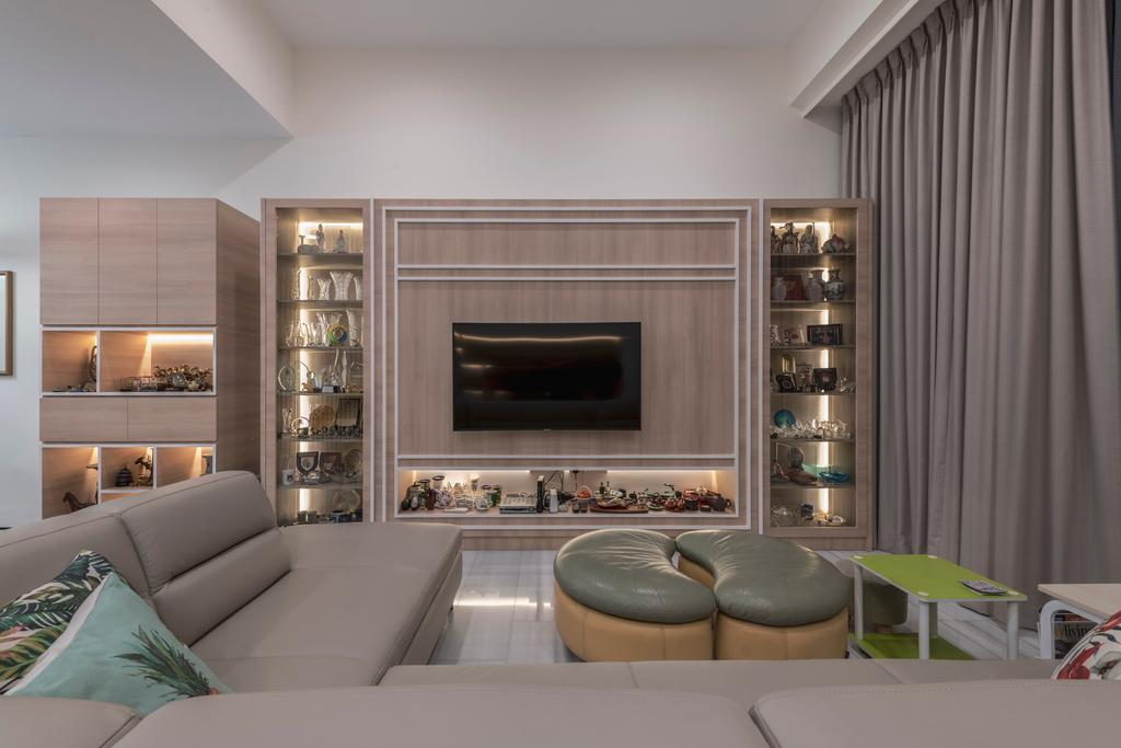 Contemporary, Landed, Living Room, Serangoon Gardens Terrace, Interior Designer, Zenith Arc