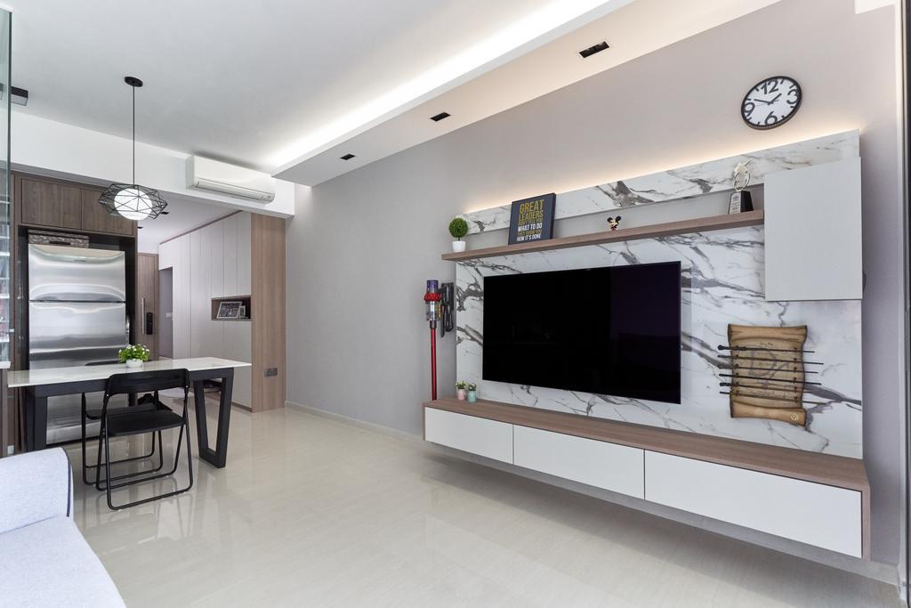 Contemporary, Condo, Living Room, Sol Acres, Interior Designer, Charlotte's Carpentry