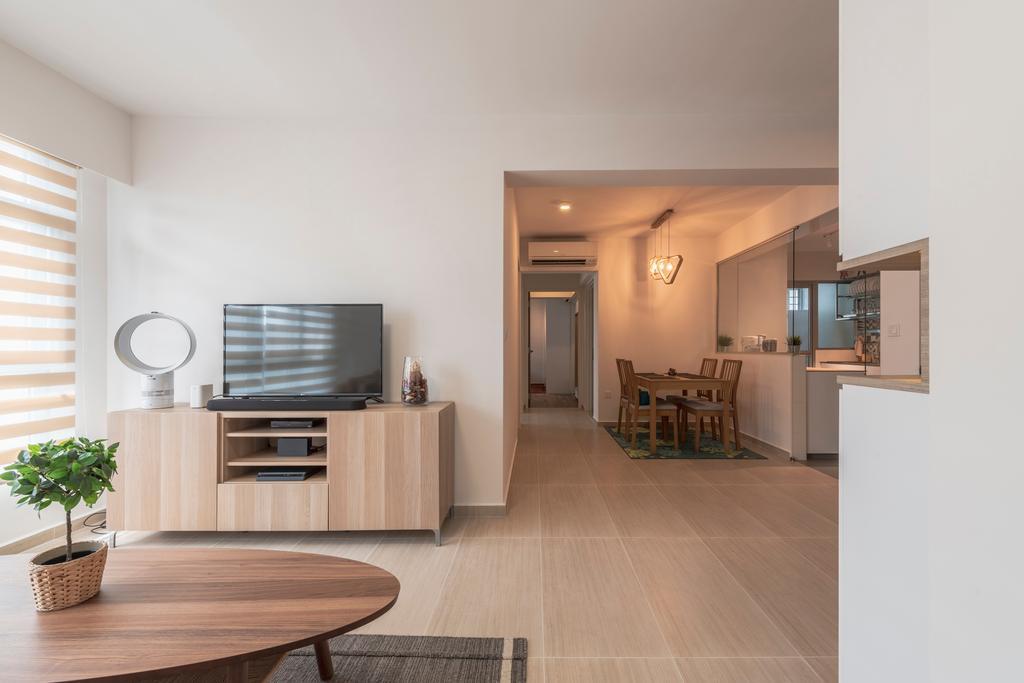 Scandinavian, HDB, Living Room, Anchorvale Road, Interior Designer, Zenith Arc, Contemporary