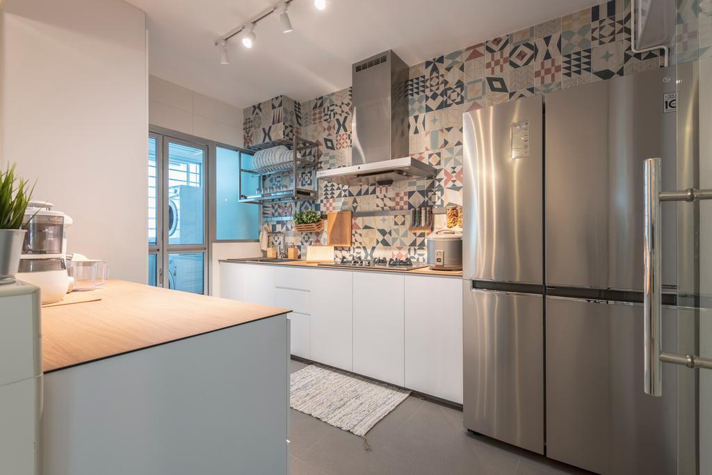 Scandinavian, HDB, Kitchen, Anchorvale Road, Interior Designer, Zenith Arc, Contemporary