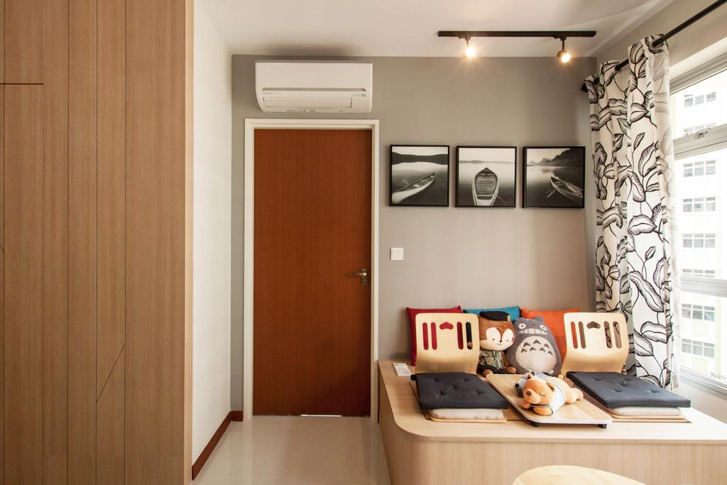 Scandinavian, HDB, Living Room, Yishun Avenue 4, Interior Designer, Space Atelier, Modern