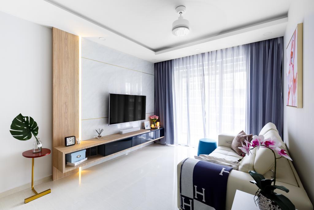 Contemporary, Condo, Living Room, Sol Acres, Interior Designer, Anhans Interior Design