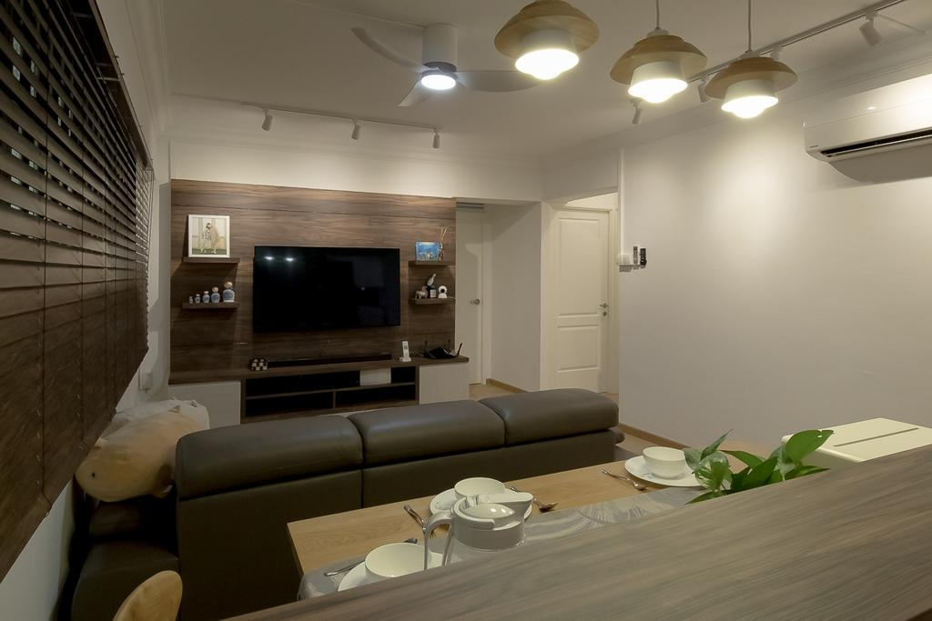 Contemporary, HDB, Living Room, Sembawang Drive, Interior Designer, Style Living Interior