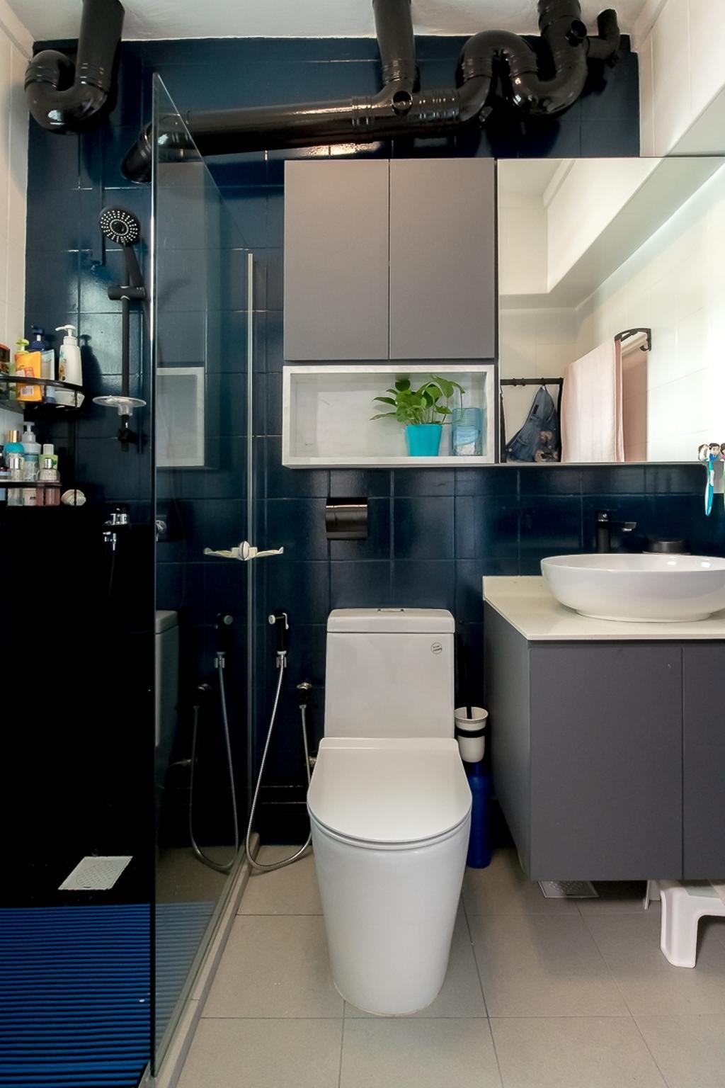 Contemporary, HDB, Bathroom, Sembawang Drive, Interior Designer, Style Living Interior