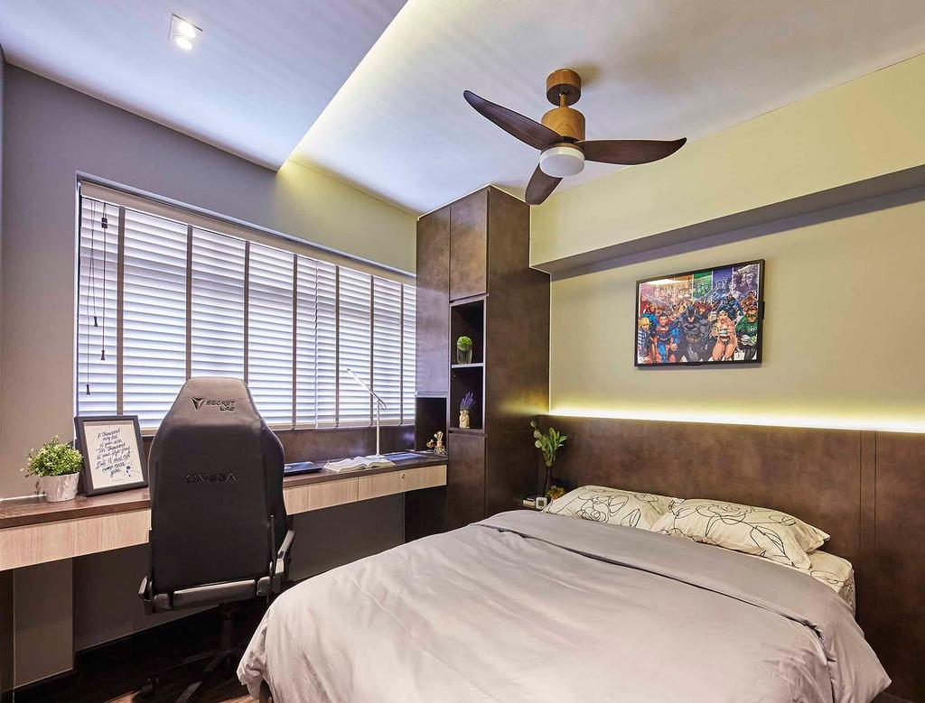 Contemporary, HDB, Bedroom, Bedok Central, Interior Designer, The Interior Lab