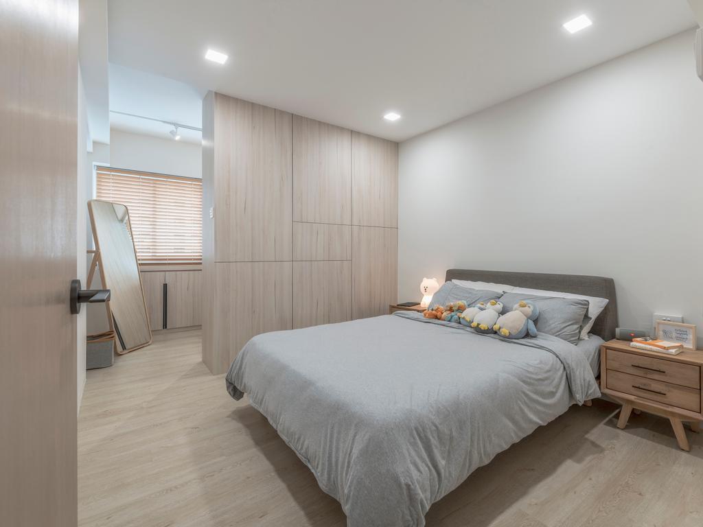 Scandinavian, HDB, Bedroom, Hougang Street 91, Interior Designer, Image Creative Design