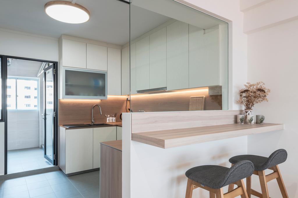 Scandinavian, HDB, Kitchen, Hougang Street 91, Interior Designer, Image Creative Design