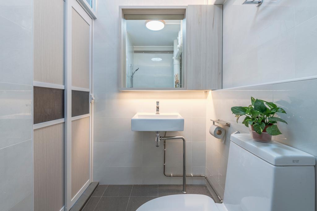 Scandinavian, HDB, Bathroom, Hougang Street 91, Interior Designer, Image Creative Design