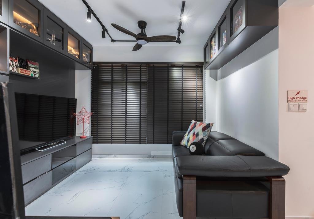 Contemporary, HDB, Living Room, Buangkok Crescent, Interior Designer, Butler Interior